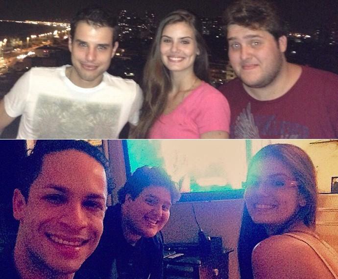 Felipe, Camila Queiroz, Rainer Cadete e Pedro Gabriel Tonini são vizinhos (Foto: Arquivo pessoal)