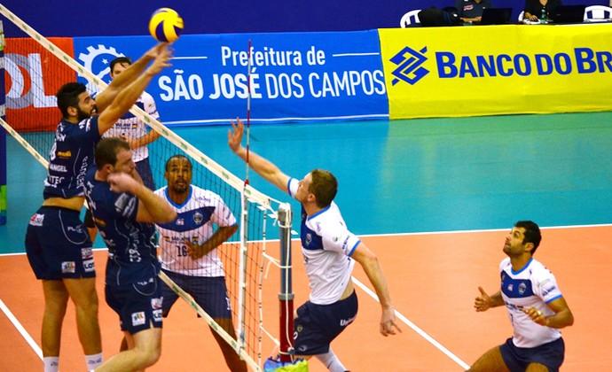 São José Vôlei x Vôlei Taubaté Superliga Masculina (Foto: Felipe Kyoshy/GloboEsporte.com)