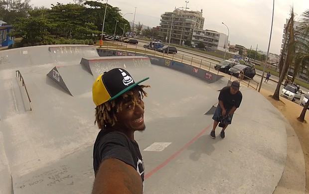 Jeffinho Rodrigues mostra o sorriso - Zona de Impacto (Foto: Reprodução SporTV)