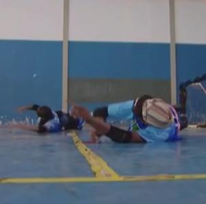 Equipe feminina de golbol de Uberlândia apuv (Foto: Reprodução/TV Integração)