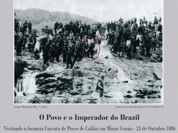 Visita de Dom Pedro II a Poços de Caldas em 1886 (Foto: Acervo Museu Histórico e Geográfico de Poços de Caldas)