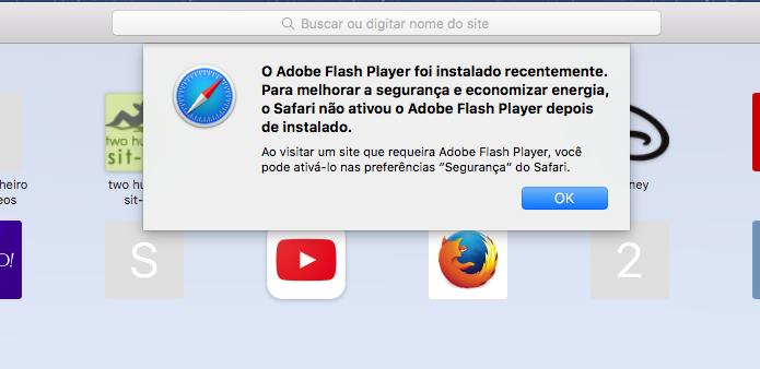 Flash não funciona? Veja como re-habilitar o Flash no Safari 10 (Foto: reprodução/Edivaldo Brito)