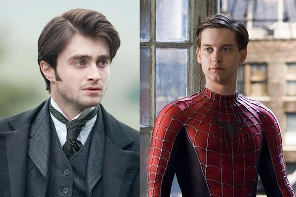 Daniel Radcliffe em 'A Mulher de Preto' (2012) e Tobey Maguire no filme 'Homem-Aranha' (2002) (Foto: Divulgação)