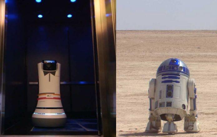 Robô real de um hotel lembra R2-D2 da saga Star Wars. Você teria um? (Foto: Divulgação)