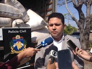 Delegado Márcio Amorim disse que apreensão ocorreu em uma chácara no Bairro Operário (Foto: G1 RR)