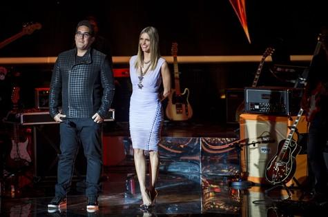 André Marques e Fernanda Lima no palco do 'Superstar' (Foto: Globo/João Cotta)