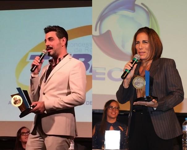 O diretor Jorge Farjalla e a atriz Gloria Pires também foram contemplados com o Prêmio Nelson Rodrigues (Foto: Marcello Sá Barretto/ Ag News)