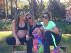 Mirella Santos exibe barrigão ao acompanhar Dani Souza em treino