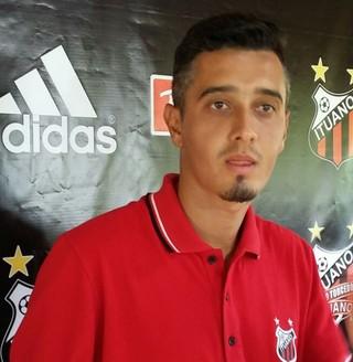 Marcelinho atacante do Ituano  (Foto: Douglas Brito / TV TEM)