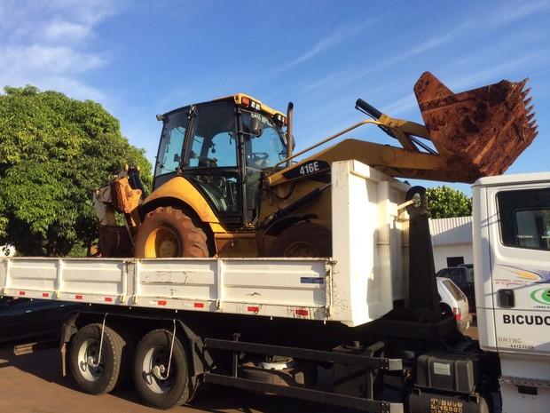 Justiça Federal também determinou a apreensão de máquinas e equipamentos que fazem parte do patrimônio da quadrilha, estimado em R$ 20 milhões (Foto: PF / Divulgação)