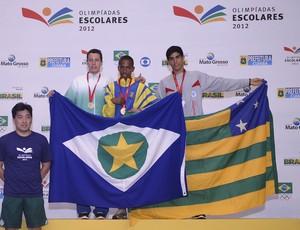 Weverton Fidelis atletismo 3.000m Olimpíadas Escolares  (Foto: Fernando Soutello/AGIF/COB)