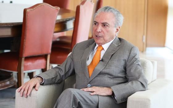 O presidente Michel Temer concede entrevista para agência, em janeiro (Foto: Alan Santos/PR)