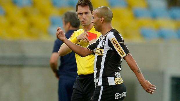 Emerson Sheik expulso Botafogo x Bahia (Foto: Alexandre Loureiro / Ag. Estado)