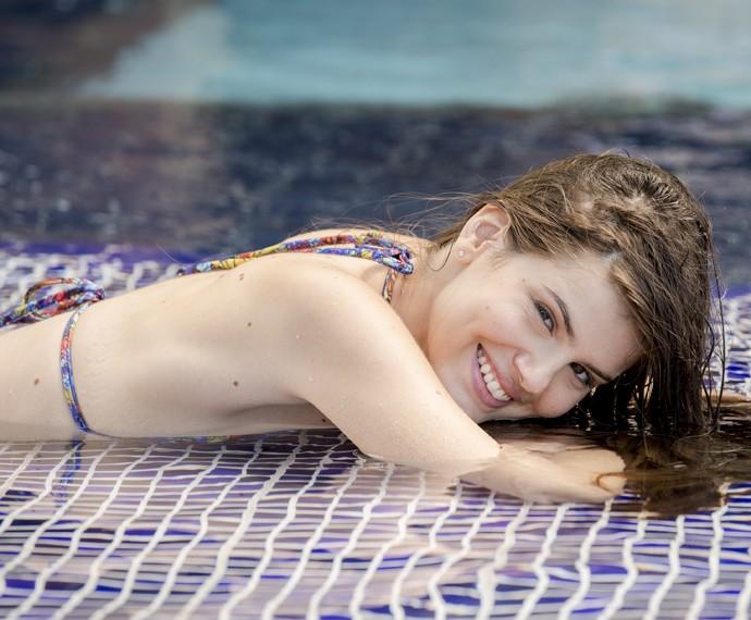 Camila linda Queiroz nas gravações da lua de mel de Alex e Carolina (Foto: Felipe Monteiro / Gshow)