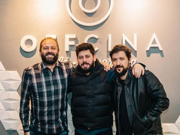 Sócios do Offcina Café em Blumenau (Foto: Ricardo Luiz Guedes/ Arquivo Pessoal)