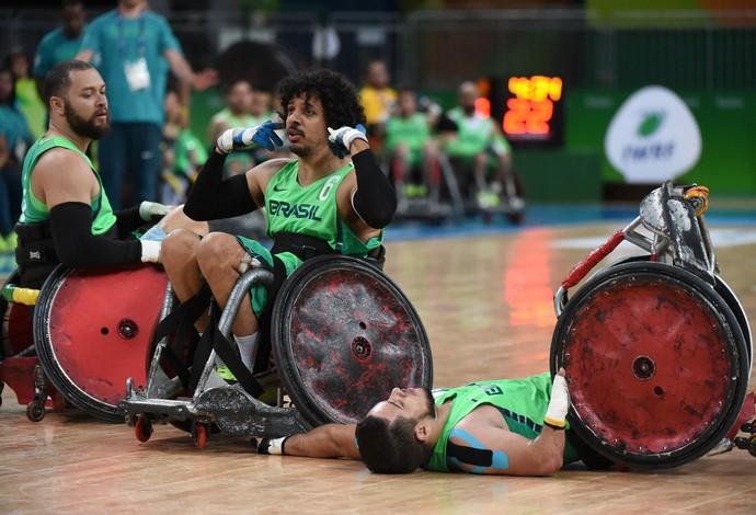Brasil x Canadá Rugby em cadeira de rodas masculino (Foto: André Durão)