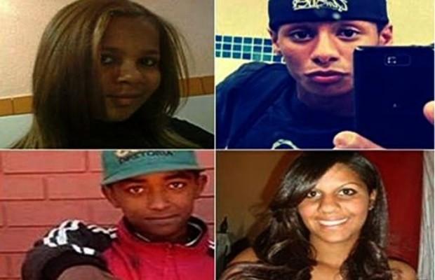 Estudantes desaparecidos em Aparecida de Goiânia (Foto: Reprodução/ TV Anhanguera)