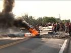 Indígenas em protesto bloqueiam a BR-316, próximo a Bom Jardim