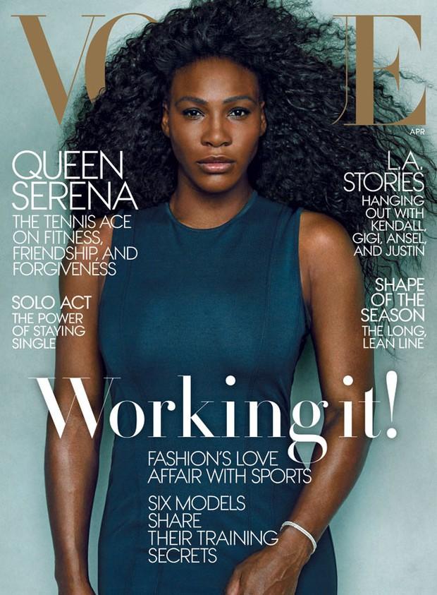 Serena Williams na capa da Vogue americana (Foto: Reprodução / Vogue)