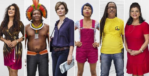 Pessoas entrevistadas para o projeto Somos Brasil (Foto: Marcus Lyon)