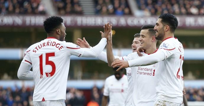 Daniel Sturridge Liverpool x Aston Villa (Foto: Reuters)