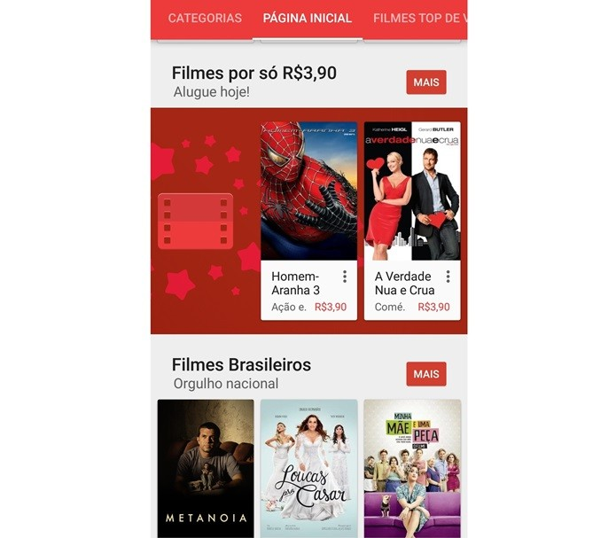 Há também filmes gratuitos no Google Play (Foto: Reprodução/Lívia Dâmaso)