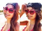 Filha de Kelly Key posta fotos na praia: 'Começando bem o dia'