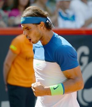 Rafael Nadal x Fabio Fognini na final do ATP de Hamburgo (Foto: AFP)