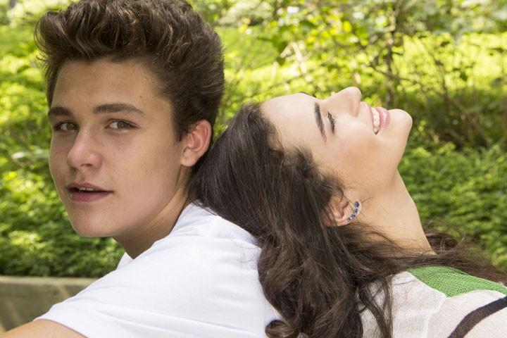Gabriel Kaufmann e Lívian Aragão lindos demais! (Foto: Inácio Moraes/Gshow)
