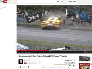 Vídeo do acidente na Polônia (Foto: Reprodução/YouTube/pauluniaa2)