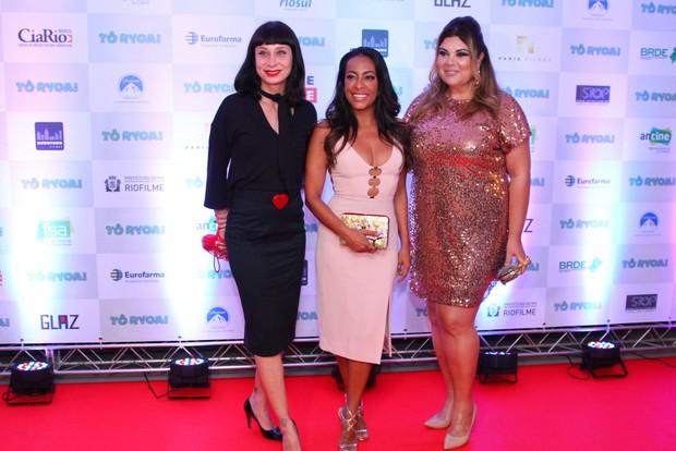 Katiuscia Canoro, Samantha Schmutz e Fabiana Karla (Foto: Anderson Borde / Ag News)