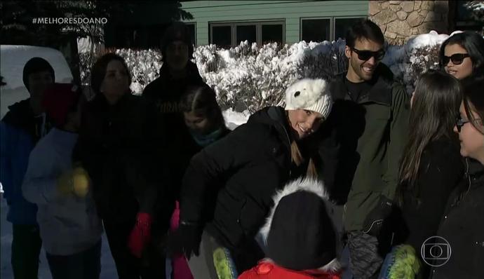 Ivete Sangalo dança hit de Anitta na neve (Foto: TV Globo)