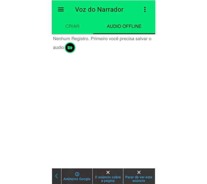 O app prevê diversas brincadeiras com áudio, basta salvar o que já foi feito (Foto: Reprodução/Felipe Vinha)