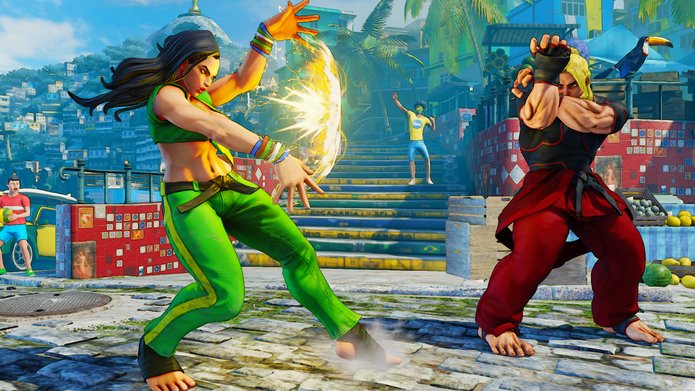 Street Fighter 5: projétil de Laura Thunder Clap é útil para confundir adversários (Divulgação/Capcom)