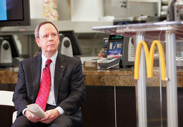 Jim Skinner, CEO do McDonald's Corporation (Foto: Scott Olson/Getty Images)