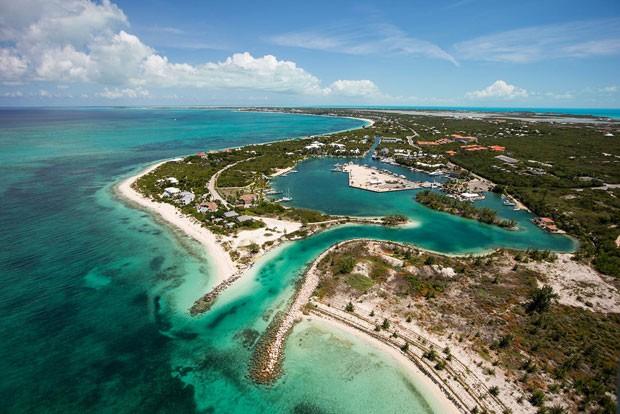 Vista aérea de Turks e Caicos (Foto: Divulgação/Turks & Caicos Islands)