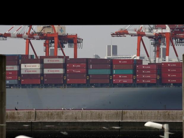 Exportações do Japão caíram 14% em julho. (Foto: Reuters)