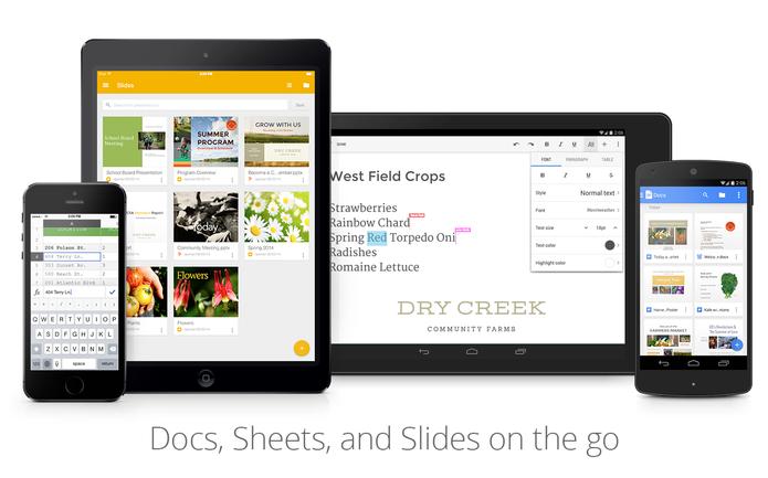 Google Slides ganhou versão para smartphones e tablets com Android e chegará também ao iOS (Foto: Divulgação/Google)
