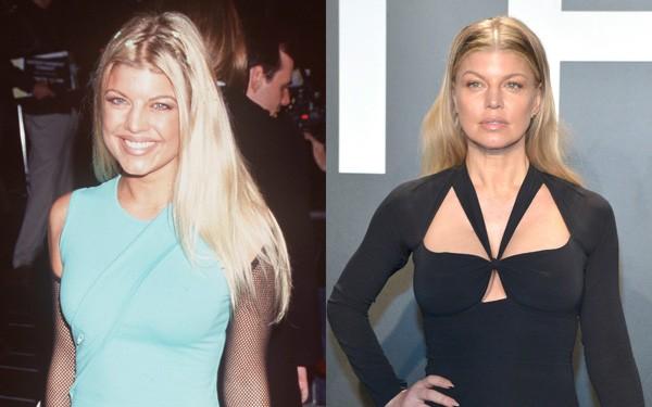 Fergie em 1999 e em 2016 (Foto: Getty Images)