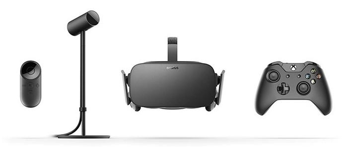 Caixa do Oculus Rift vem com headset, sensor, controle de Xbox One e Oculus Remote (Foto: Divulgação/Oculus VR)