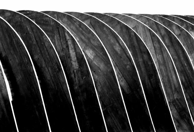 Detalhe do Edifício Niemeyer, construido pelo arquiteto em Belo Horizonte; foto foi feita em 1959. (Foto: Wilson Baptista/Divulgação)