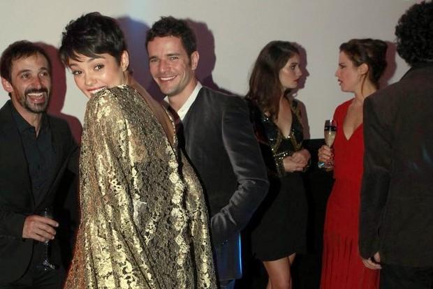 Sophie Charlotte e Daniel Oliveira na festa da nova novela das 23 h (Foto: Isac Luz/EGO)
