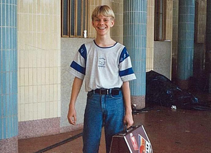 Michel Teló em sua adolescência no Mato Grosso do Sul (Foto: Arquivo Pessoal)