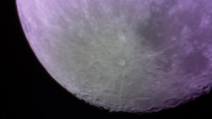 Lua foi registrada pelos desenvolvedores do telescópio (Foto: Divulgação)