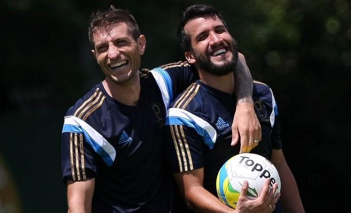 Eguren e Victorino Palmeiras (Foto: Cesar Greco/Ag Palmeiras/Divulgação)