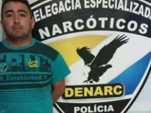 Rayfran Araújo Silva, de 27 anos, é suspeito envolvimento com o tráfico de drogas e foi preso em Palmas (Foto: Divulgação/Polícia Civil)