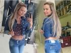Geisy Arruda mostra que está sequinha com calça jeans colada
