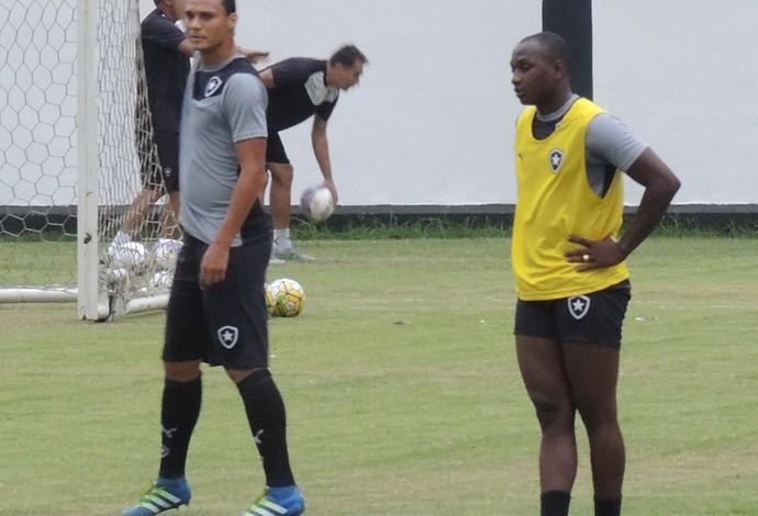 sassá botafogo treino (Foto: Marcelo Baltar / GloboEsporte.com)