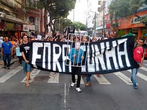 Manifestação contra Eduardo Cunha em Salvador (Foto: Maiana Belo/G1)
