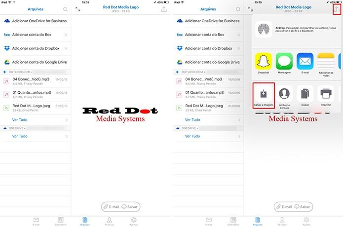 Outlook para iOS mostra conteúdo do anexo dentro do próprio aplicativo (Foto: Reprodução/Elson de Souza)
